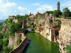 History and Legend of the Chittorgarh Fort in Rajasthan, India. Chittorgarh Fort is a massive and majestic fort situated on a hilltop near Chittorgarh town in Rajasthan state in India. History of Chittorgarh Beautiful Places In The World, Places Around The World, Oh The Places You'll Go, Places To Travel, Places To Visit, Around The Worlds, Amazing Places, Travel Destinations, Wonderful Places