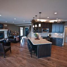 Living Photos Open Floor Plan Design Ideas, Pictures, Remodel, and Decor - page 7