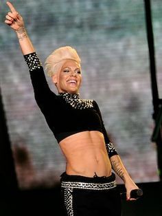 Pink's Abs are Unreal! : The singer showed off her rockstar six-pack while performing over the weekend. #SelfMagazine