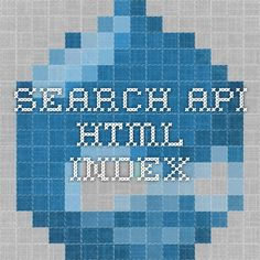 Search API HTML INDEX