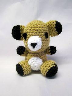 Amigurumi Teddy Bear Toy Hand Crochet by AlfieJayne on Etsy, €14.00