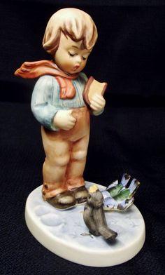 Vintage Hummel Bird Watcher Figurine #300 Goebel W. Germany TMK-5 Great Shape! #Goebel