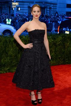 Jennifer Lawrence in Christian Dior at the 2013 Met Gala
