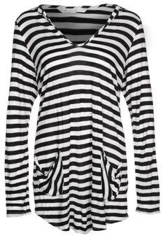 Langærmede T-shirts - sort