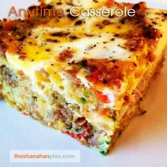 """Anytime Casserole""  Prep Time: 15 minutes Cook Time: 25 minutes Servings: 4-6  Ingredients:  2 Tbsp. Olive Oil  1 lb. Pork..."