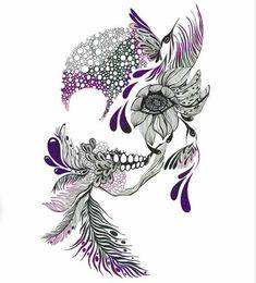 Skulls Skull tattoos and Girly skull tattoos on Pinterest