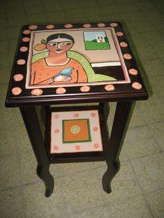 Night table Frida style by Varda Artisticolors