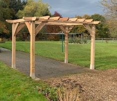 Round Wood of Mayfield's oak pergolas, from £1450 (PLUS VAT)