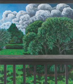 """Balcony View, August"" 30"" x 26"" oil/linen"