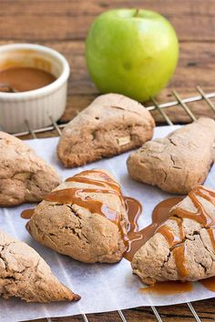Caramel and apples make a delightful combination- so why not bake up some deliciousness, in scone form? Get the recipe: http://foodal.com/recipes/breakfast/caramel-apple-scones/