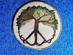 Peace Tree Iron on Patch by GerriTullis on Etsy, $11.00