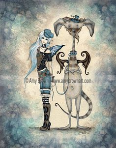 Fairy Art Artist Amy Brown: The Official Online Gallery. Fantasy Art, Faery Art, Dragons, and Magical Things Await. Amy Brown Fairies, Dark Fairies, Watercolor Mermaid, Tattoo Watercolor, Watercolor Painting, Fairy Pictures, Witch Pictures, Steampunk, Unicorns And Mermaids