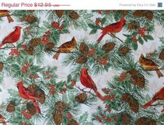 ON SALE  Cotton Fabric Home Decor Craft by SuesFabricNSupplies