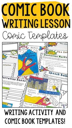 Comic Book Writing is a fun and creative way to teach your students the writing process! Kids love comics and this product will allow them to show their writing skills in a fun way. This is a great addition to a superhero unit! They will begin with brains