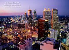 Downtown Atlanta skyline from Marietta St.