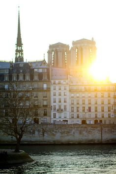 Notre Dame Sunset, Paris (by H. Walsworth)