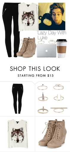 """""""Lazy day with Luke"""" by lovatic92 ❤ liked on Polyvore featuring VILA, Topshop and Forever 21"""