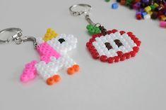 #portecles #perleshama #perlesarepasser #pomme #licorne #diy #tutoriel Earrings, Diy Tutorial, Hama Beads, Unicorn, Apple, Ear Rings, Stud Earrings, Ear Piercings, Ear Jewelry