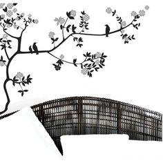 Vinilo ramas - morning birds - Floral