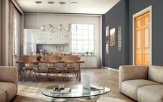 Pintura Para Salas Y Cocinas : Mejores imágenes de pintura gris en en