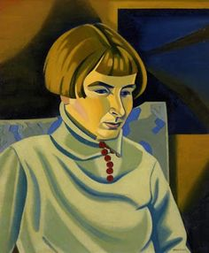 """Portrait of Jean Angus"" 1937 by Rita Angus (1908 - 1970)"