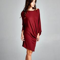 Moment's Indulgence Slouchy Tunic or Dress Slouchy tunic or dress. Available in red, speckled grey and black. Brand new. True to size. NO TRADES. Bare Anthology Dresses Mini