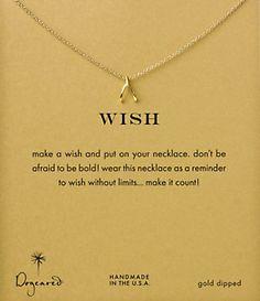 Dogeared Wishbone Necklace @ Dillard's too perfect