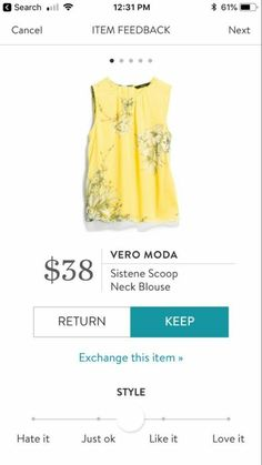 StitchFix the style! I can't wear yellow so need another color, cool tone. Very pretty top! Beautiful Outfits, Cute Outfits, Summer Outfits, Fix Clothing, Stitch Fit, Stitch Fix Outfits, Stitch Fix Stylist, Mellow Yellow, Color Yellow