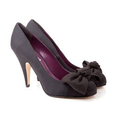 Ellen - Black high Court by beyond skin Italian fabric, Hand made in Spain, vegan shoes, sustainable fashion