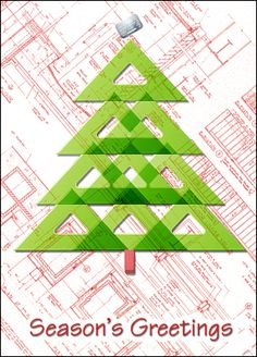 These Architects Greeting Cards will draw new business and generate repeat business with its blueprint covered by a Christmas tree made of triangle scales. Customize it with name, logo & message for free.