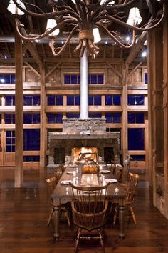 Modern Barn Home  Dutch Barn Frame Within A Home Transported Mesmerizing Dining Room In German Design Decoration
