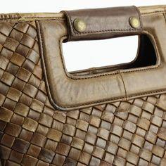 Designertasche LUXUS Italienische Echt Leder Handtasche geflochten Ledertasche Vera Pelle Italien Braun www.styleup.eu