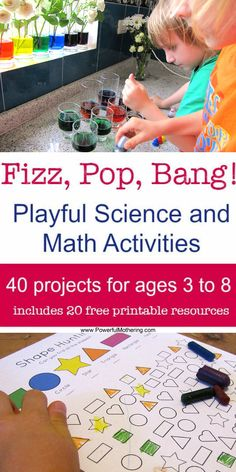 Suitable for school, after school, homeschool, summer camps or fun weekend projects -- inspiring ideas, but really practical and everything all in one place -- great photos, step-by-step guides, all things you can easily try at home -- 40 ideas for children aged 3 to 8, with twenty printable resources