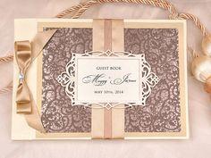 Wedding Guest Book Guestbook Photo album by forlovepolkadots