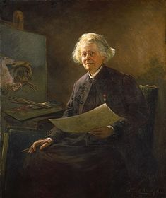 Rosa Bonheur (1857–1893) was a Polish painter, known for her portraits.  (painted by Anna Elizabeth Klumpke)   The Metropolitan Museum of Art -  was a French animalière, realist artist, and sculptor. Bonheur is widely considered to have been the most famous female painter of the nineteenth century.