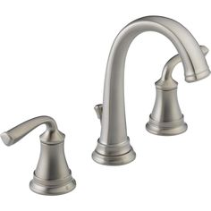 Delta Lorain Stainless 2-Handle Widespread WaterSense Bathroom Faucet (Drain Included)