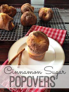 Cinnamon Sugar Popovers - holy yum!