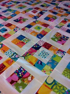 """Royal Squares """"Royal Squares i LOVE the bright colors of this quilt!"""", """"Love the brights with white.usually I'm drawn to black as the sashing, but this"""