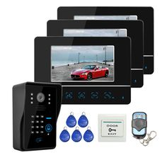 FREE SHIPPING Wired Touch Key 7 inch Lcd Home Video Door Phone Intercom System 3 Monitor RFID Card Keypad Door Camera IN STOCK #Affiliate