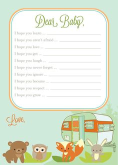 Woodland Forest Friends Camping Baby Shower Printable Party Kit DIY Package.   # Pin++ for Pinterest #