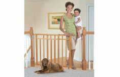 Banister & Stair, Top of Stairs Gate with Dual Installation Kit