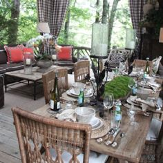 rustic dining porch - southern hospitality blog