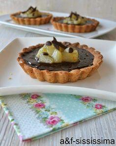 crostatine cioccolato e pere