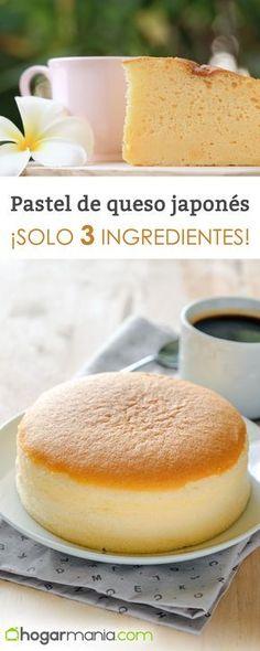Receta de Pastel de queso japonés #cocina #receta #hogarmania #eva #arguiñano #postre #queso #tarta