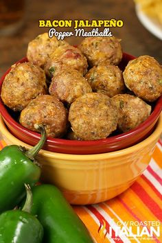Bacon Jalapeno Popper Meatballs are incredibly moist flavorful and even better than the famous appetizer. If your kids love southwestern flavors they will devour these. This recipe is the perfect make ahead meal. Freeze, defrost and reheat. Game Day Appetizers, Bacon Appetizers, Appetizer Recipes, Freezable Appetizers, Dinner Recipes, Wedding Appetizers, Meatball Recipes, Beef Recipes, Mexican Food Recipes