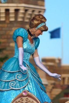 I love Cinderella's dress here! It must be from the festival of fantasy parade at WDW based on the design.