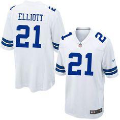 Men's Dallas Cowboys Ezekiel Elliott Nike White Game Jersey - Pro Image Sports