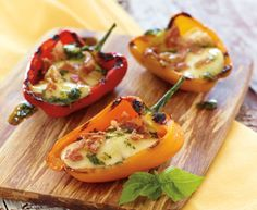 Italian Style Grilled Stuffed Peppers with Tre Stelle® Bocconcini #appetizer #bocconcini #recipe