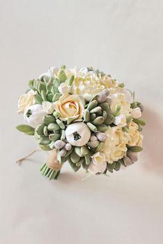 Gold Alternative wedding bouquet Keepsake Wedding bouquet