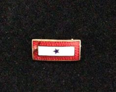 Vintage WWII 1 Blue Star Flag Brooch Pin, In Stock, Ready To Ship,